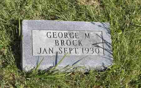 BROCK, GEORGE M - Nemaha County, Kansas | GEORGE M BROCK - Kansas Gravestone Photos