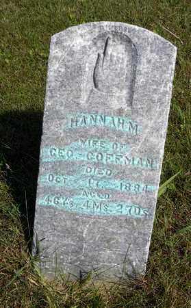 COFFMAN, HANNAH - Nemaha County, Kansas | HANNAH COFFMAN - Kansas Gravestone Photos