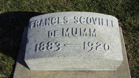 SCOVILLE DE MUMM, FRANCES - Nemaha County, Kansas | FRANCES SCOVILLE DE MUMM - Kansas Gravestone Photos