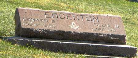 EDGERTON, EDWARD B - Nemaha County, Kansas | EDWARD B EDGERTON - Kansas Gravestone Photos