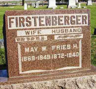 FIRSTENBERGER, FRIES HENRY - Nemaha County, Kansas   FRIES HENRY FIRSTENBERGER - Kansas Gravestone Photos