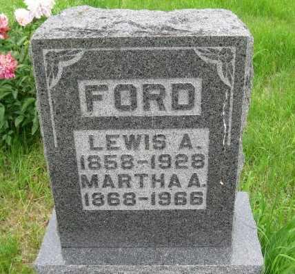 FORD, MARTHA A - Nemaha County, Kansas | MARTHA A FORD - Kansas Gravestone Photos