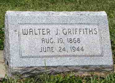 GRIFFITHS, WALTER J - Nemaha County, Kansas | WALTER J GRIFFITHS - Kansas Gravestone Photos