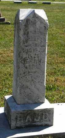 HAUG, AUGUST - Nemaha County, Kansas | AUGUST HAUG - Kansas Gravestone Photos