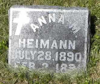 HEIMANN, ANNA M - Nemaha County, Kansas | ANNA M HEIMANN - Kansas Gravestone Photos