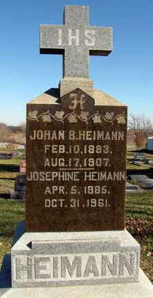 HEIMANN, JOSEPHINE CAROLYN - Nemaha County, Kansas | JOSEPHINE CAROLYN HEIMANN - Kansas Gravestone Photos