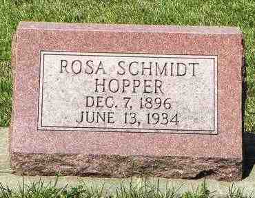 HOPPER, ROSA - Nemaha County, Kansas   ROSA HOPPER - Kansas Gravestone Photos