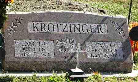 KROTZINGER, JACOB C - Nemaha County, Kansas | JACOB C KROTZINGER - Kansas Gravestone Photos
