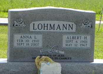 LOHMANN, ALBERT H - Nemaha County, Kansas | ALBERT H LOHMANN - Kansas Gravestone Photos