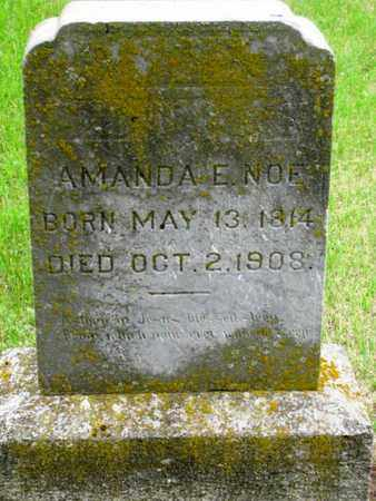 NOE, AMANDA E - Nemaha County, Kansas   AMANDA E NOE - Kansas Gravestone Photos