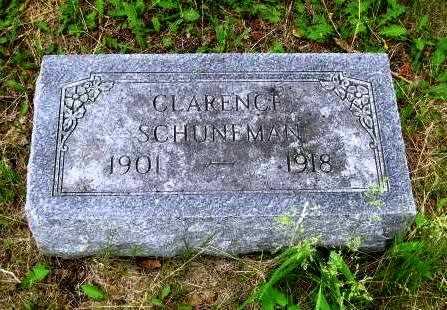 SCHUNEMAN, CLARENCE - Nemaha County, Kansas | CLARENCE SCHUNEMAN - Kansas Gravestone Photos