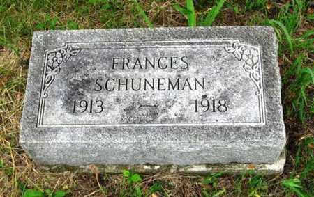SCHUNEMAN, FRANCES - Nemaha County, Kansas | FRANCES SCHUNEMAN - Kansas Gravestone Photos