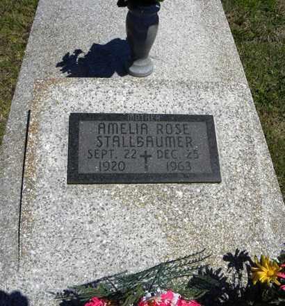 STALLBAUMER, AMELIA ROSE - Nemaha County, Kansas | AMELIA ROSE STALLBAUMER - Kansas Gravestone Photos