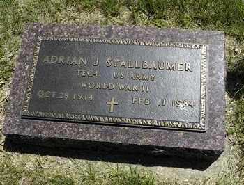 STALLBAUMER, ADRIAN JOSEPH   (VETERAN WWII) - Nemaha County, Kansas | ADRIAN JOSEPH   (VETERAN WWII) STALLBAUMER - Kansas Gravestone Photos