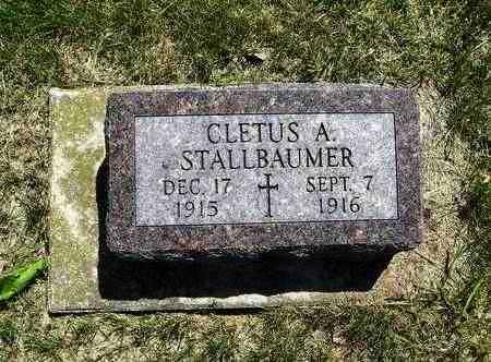 STALLBAUMER, CLETUS ALOYISUS - Nemaha County, Kansas   CLETUS ALOYISUS STALLBAUMER - Kansas Gravestone Photos