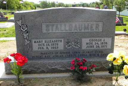 STALLBAUMER, MARY ELIZABETH - Nemaha County, Kansas | MARY ELIZABETH STALLBAUMER - Kansas Gravestone Photos