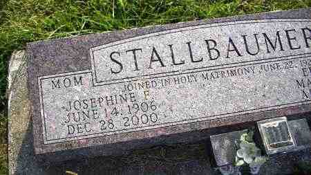 STALLBAUMER, JOSEPHINE F  (CLOSEUP) - Nemaha County, Kansas | JOSEPHINE F  (CLOSEUP) STALLBAUMER - Kansas Gravestone Photos