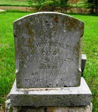 WHITNEY, W W   (VETERAN  UNION - Nemaha County, Kansas | W W   (VETERAN  UNION WHITNEY - Kansas Gravestone Photos