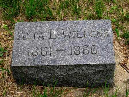 WILLCOX, ALTA L - Nemaha County, Kansas | ALTA L WILLCOX - Kansas Gravestone Photos