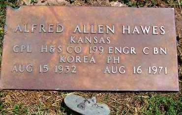 HAWES, ALFRED ALLEN  (VETERAN KOR) - Neosho County, Kansas   ALFRED ALLEN  (VETERAN KOR) HAWES - Kansas Gravestone Photos