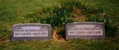 BARRY, ALMON ULYSSES - Ness County, Kansas | ALMON ULYSSES BARRY - Kansas Gravestone Photos
