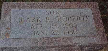 ROBERTS, CLARK R - Norton County, Kansas   CLARK R ROBERTS - Kansas Gravestone Photos