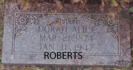 ROBERTS, DORAH ALICE - Norton County, Kansas | DORAH ALICE ROBERTS - Kansas Gravestone Photos