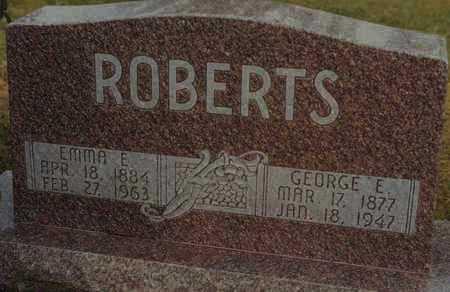 ROBERTS, GEORGE E - Norton County, Kansas | GEORGE E ROBERTS - Kansas Gravestone Photos