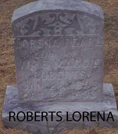 ROBERTS, LORENA PEARL - Norton County, Kansas | LORENA PEARL ROBERTS - Kansas Gravestone Photos