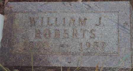 ROBERTS, WILLIAM J - Norton County, Kansas | WILLIAM J ROBERTS - Kansas Gravestone Photos