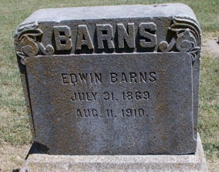 BARNS, EDWIN - Osage County, Kansas   EDWIN BARNS - Kansas Gravestone Photos