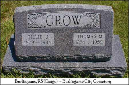 CROW, MATILDA JANE - Osage County, Kansas | MATILDA JANE CROW - Kansas Gravestone Photos