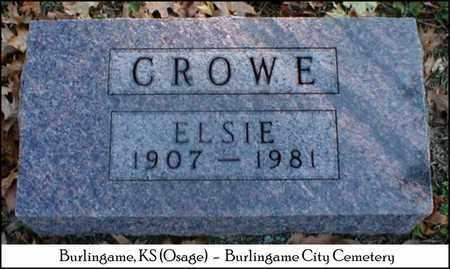 CROWE, ELSIE - Osage County, Kansas | ELSIE CROWE - Kansas Gravestone Photos