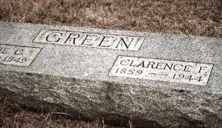 GREEN, CLARENCE FRANKLIN - Osage County, Kansas | CLARENCE FRANKLIN GREEN - Kansas Gravestone Photos