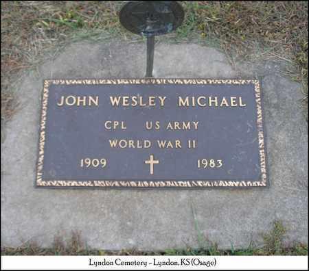 MICHAEL, JOHN WESLEY   (VETERAN WWII) - Osage County, Kansas | JOHN WESLEY   (VETERAN WWII) MICHAEL - Kansas Gravestone Photos