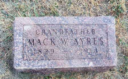 AYRES, MACK W - Osborne County, Kansas   MACK W AYRES - Kansas Gravestone Photos