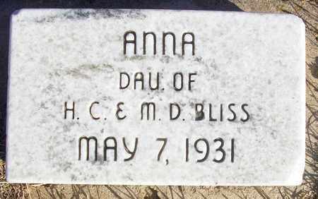 BLISS, ANNA - Osborne County, Kansas | ANNA BLISS - Kansas Gravestone Photos