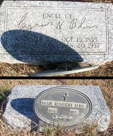 "BLISS, CYRUS NATHANIEL  ""UNCLE CY"" - Osborne County, Kansas | CYRUS NATHANIEL  ""UNCLE CY"" BLISS - Kansas Gravestone Photos"