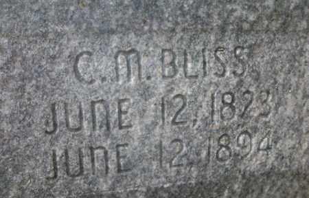 BLISS, CHAUNCY MERRICK (CLOSE UP) - Osborne County, Kansas | CHAUNCY MERRICK (CLOSE UP) BLISS - Kansas Gravestone Photos