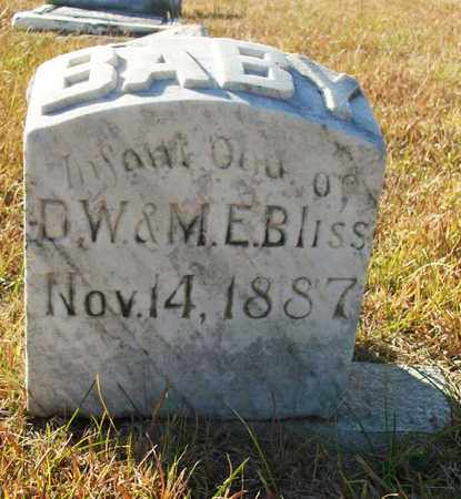 BLISS, INFANT DAUGHTER - Osborne County, Kansas | INFANT DAUGHTER BLISS - Kansas Gravestone Photos