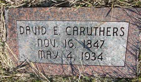 CARUTHERS, DAVID EWING - Osborne County, Kansas | DAVID EWING CARUTHERS - Kansas Gravestone Photos