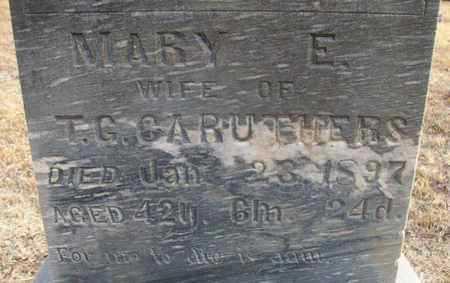 PRICE CARUTHERS, MARY ELIZABETH (CLOSE UP) - Osborne County, Kansas | MARY ELIZABETH (CLOSE UP) PRICE CARUTHERS - Kansas Gravestone Photos