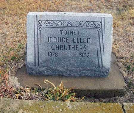 CARUTHERS, MAUDE ELLEN - Osborne County, Kansas | MAUDE ELLEN CARUTHERS - Kansas Gravestone Photos