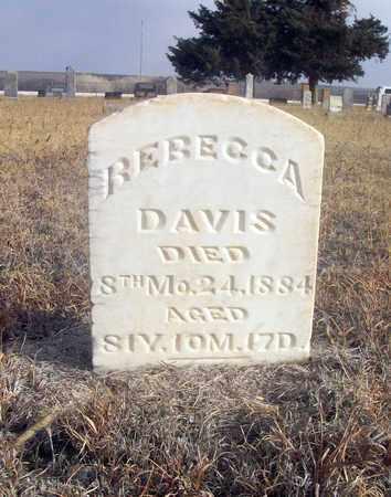 DAVIS, REBECCA - Osborne County, Kansas | REBECCA DAVIS - Kansas Gravestone Photos