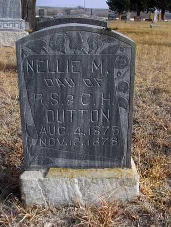 DUTTON, NELLIE MAUD - Osborne County, Kansas   NELLIE MAUD DUTTON - Kansas Gravestone Photos
