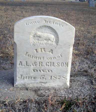 GILSON, IRA - Osborne County, Kansas | IRA GILSON - Kansas Gravestone Photos