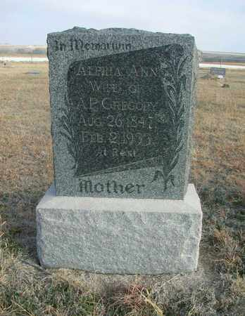 GREGORY, ALPHIA ANN - Osborne County, Kansas | ALPHIA ANN GREGORY - Kansas Gravestone Photos