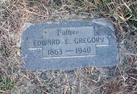 GREGORY, EDWARD E - Osborne County, Kansas | EDWARD E GREGORY - Kansas Gravestone Photos