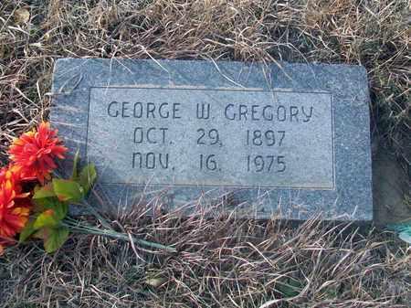 GREGORY, GEORGE W - Osborne County, Kansas   GEORGE W GREGORY - Kansas Gravestone Photos