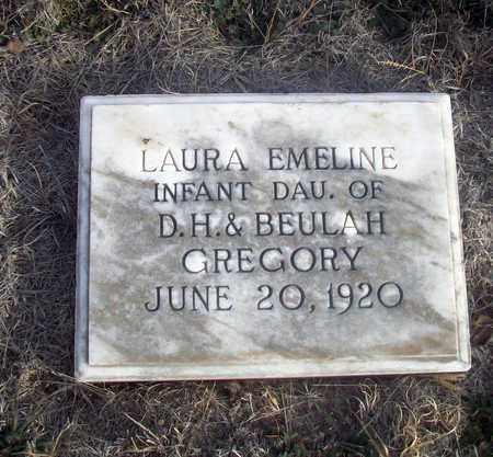 GREGORY, LAURA EMELINE - Osborne County, Kansas | LAURA EMELINE GREGORY - Kansas Gravestone Photos
